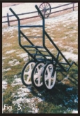 game cart assembled with three wheels